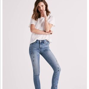 Luck Brand Embroidered Jeans